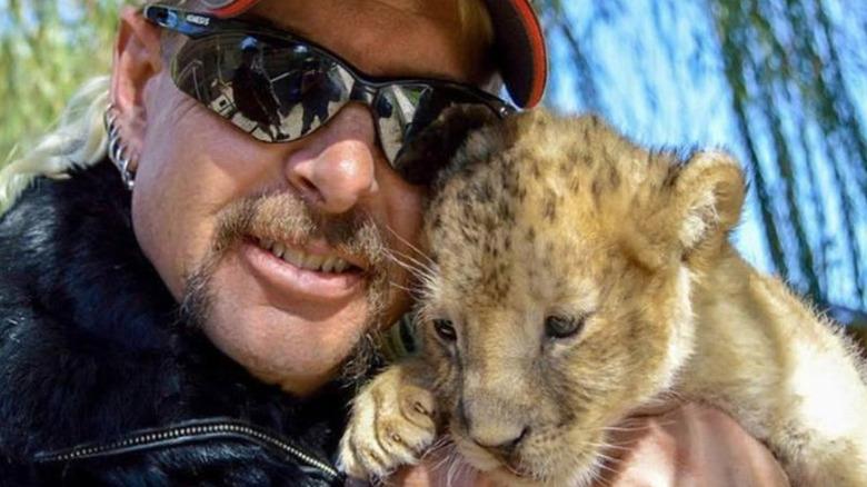 Joe Exotic with tiger cub