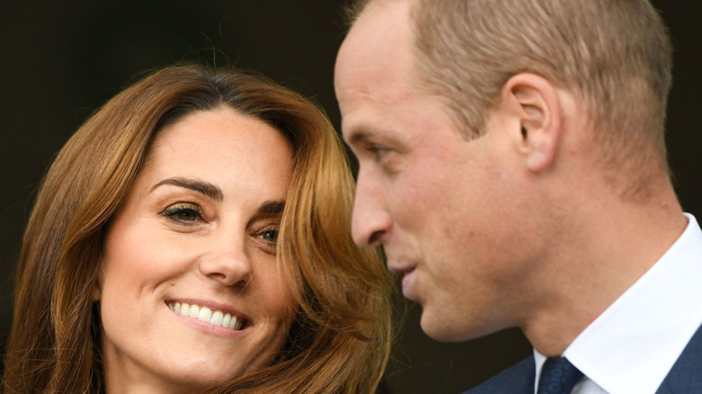 Prince Williams, Kate Middleton whispering