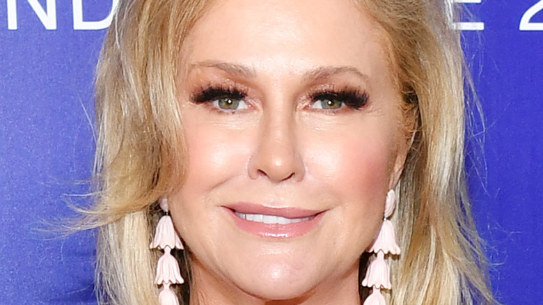 Kathy Hilton poses at an event