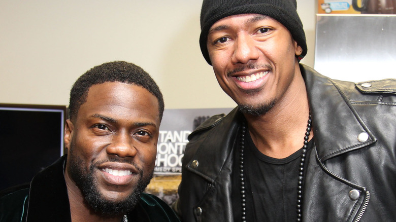 Kevin Hart and Nick Cannon at an event