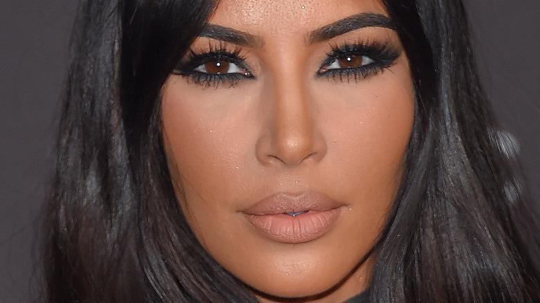 Kim Kardashian up close