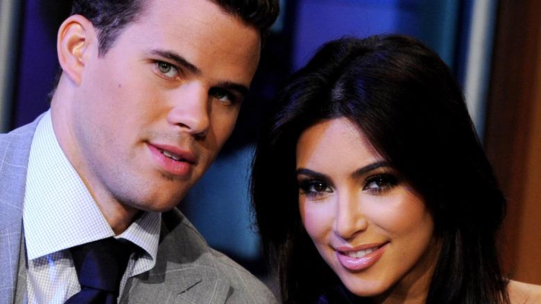 Kim Kardashian and Kris Humphries when they were a couple