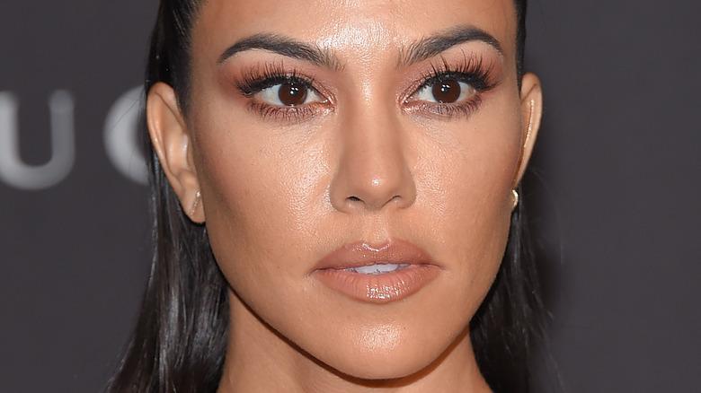 Kourtney Kardashian up close with natural makeup