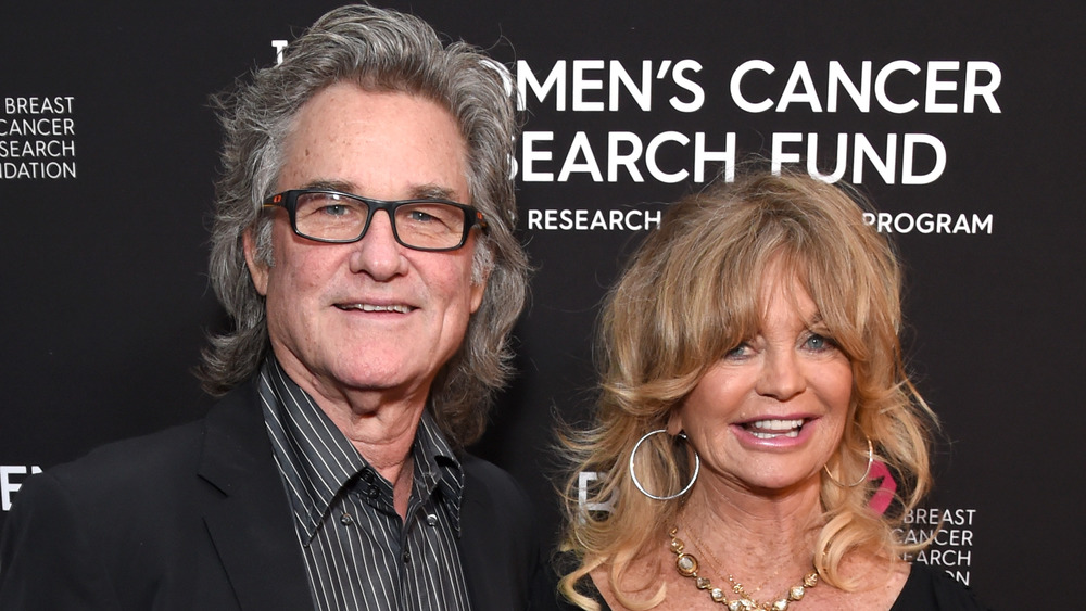 Kurt Russell and Goldie Hawn smiling