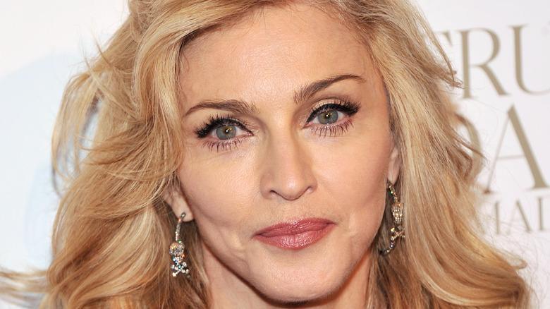 Madonna smiling