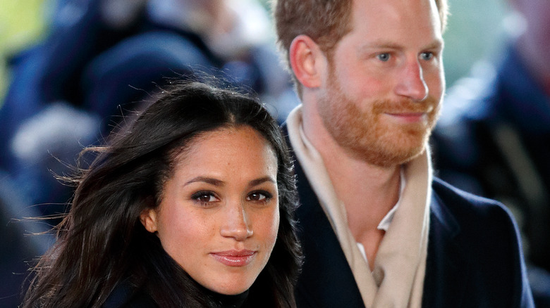 Meghan Markle and Prince Harry at an event