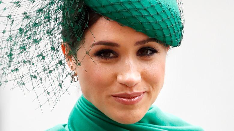 Meghan Markle in green fascinator