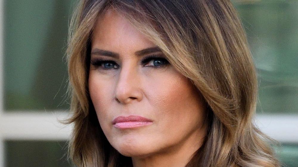Melania Trump glaring