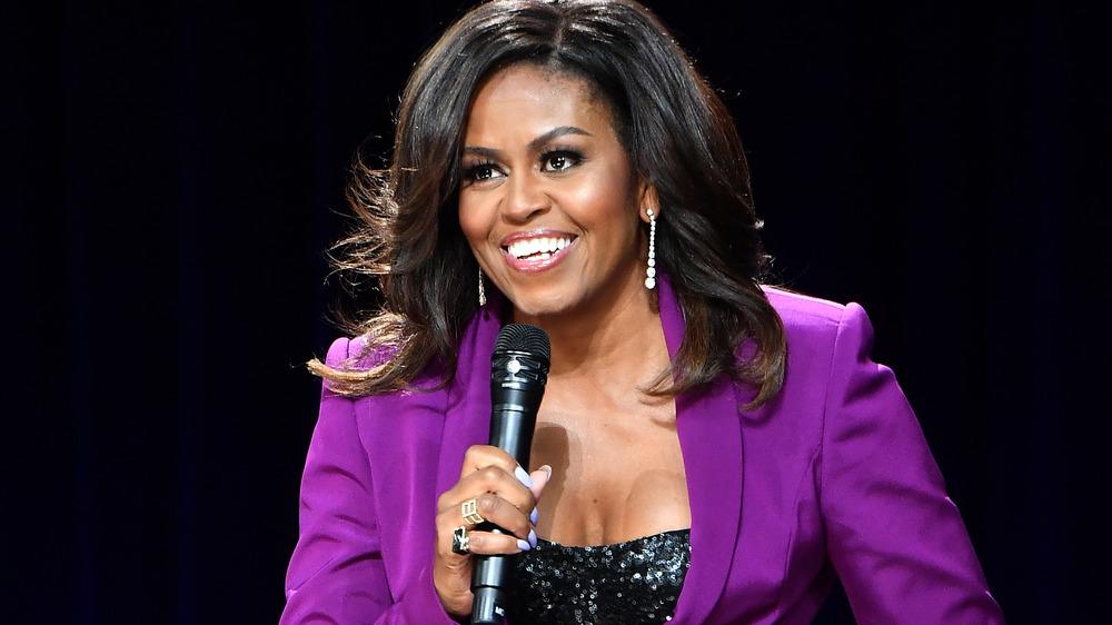 Michelle Obama purple suit