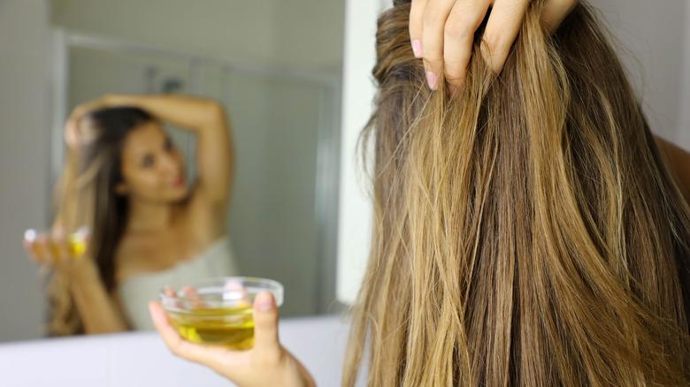 Oil hair treatment