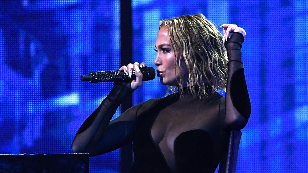 Jennifer Lopez performing at the 2020 AMAs