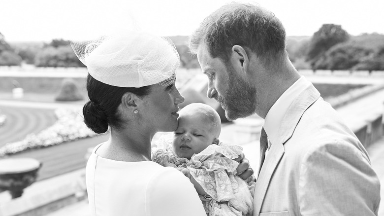 Harry, Meghan, and Archie: Christening photo