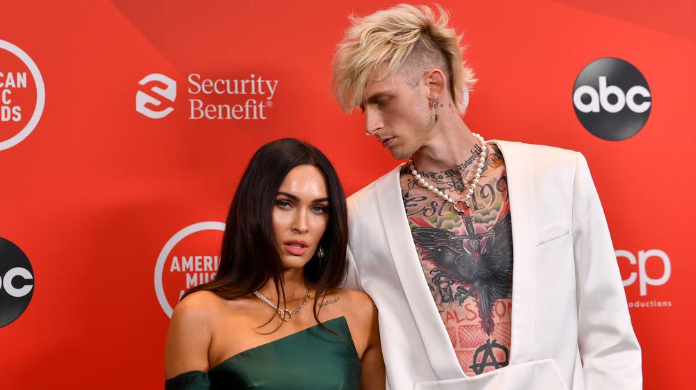 Megan Fox and Machine Gun Kelly attend awards show