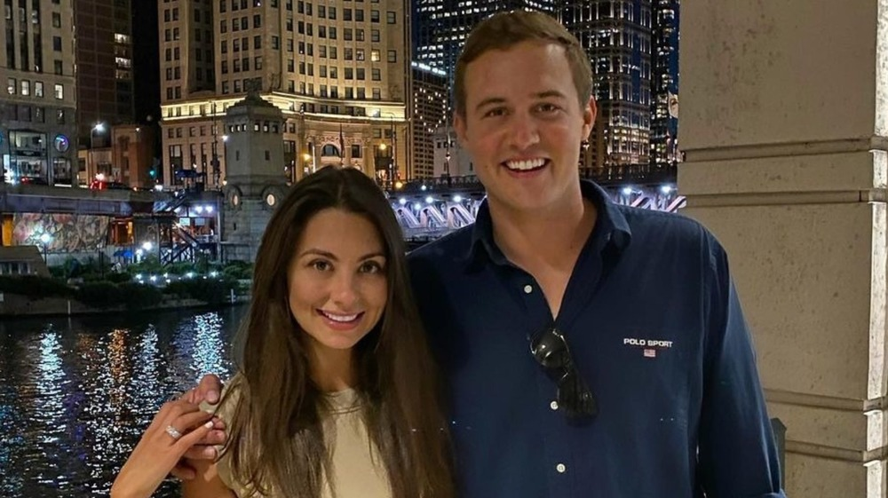 Peter Weber and Kelley Flanagan smiling