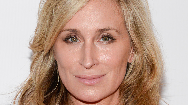 Sonja Morgan poses on the red carpet