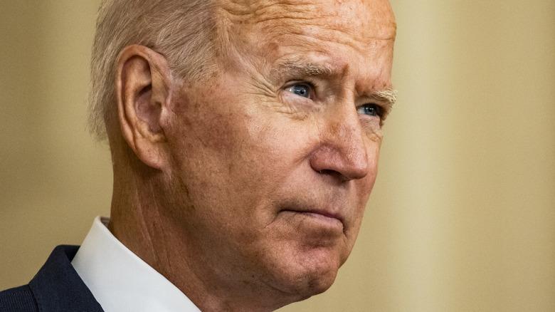 Joe Biden answering reporters questions
