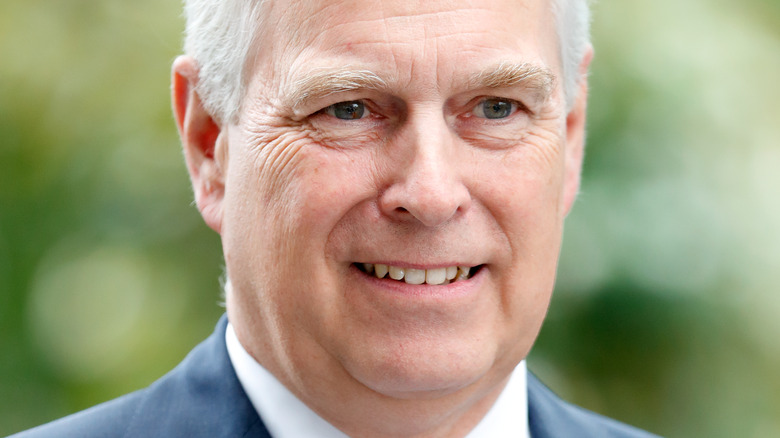 Prince Andrew smiling