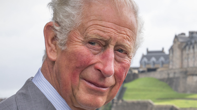 Prince Charles looking to the side