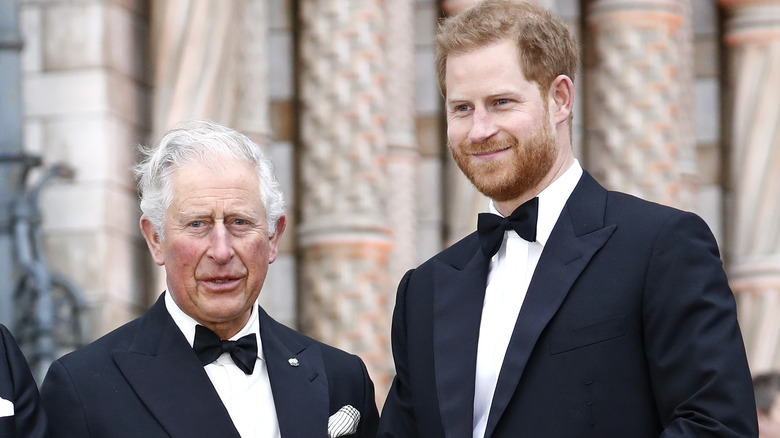 Prince Charles and Prince Harry at event