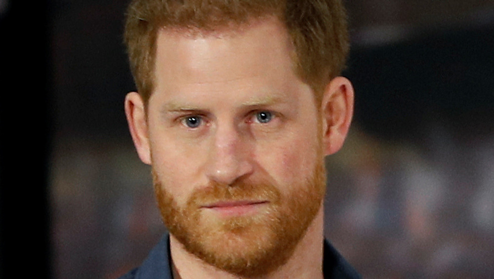 Prince Harry in serious pose