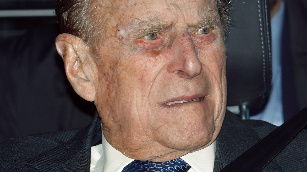 Prince Philip in a car