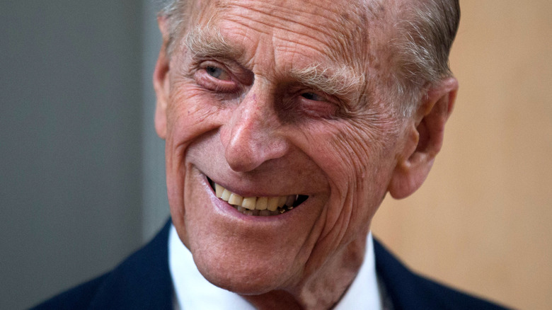Prince Philip smiles for the camera
