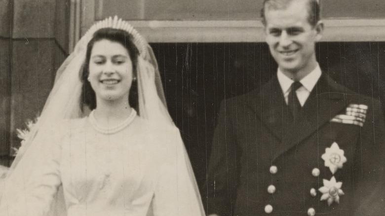 Queen Elizabeth and Prince Philip wedding in 1947
