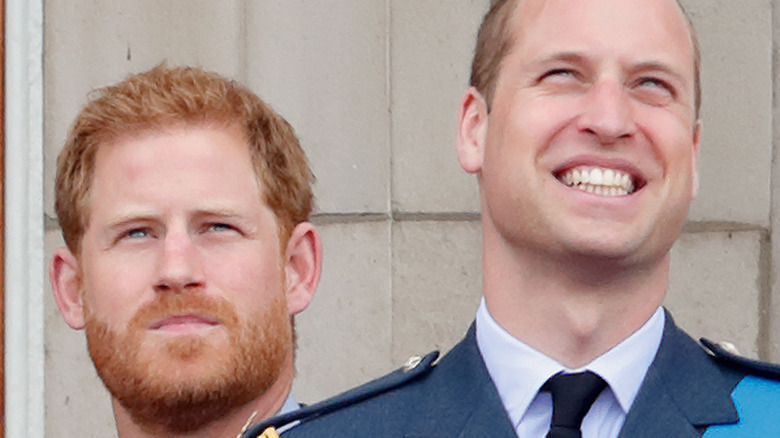 Prince William and Prince Harry at palace