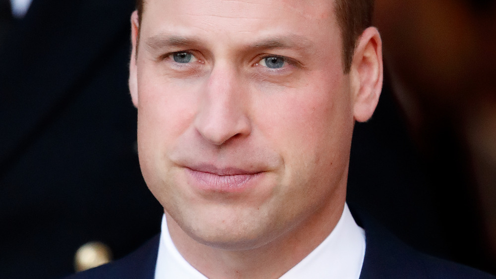 Prince William looking straight ahead