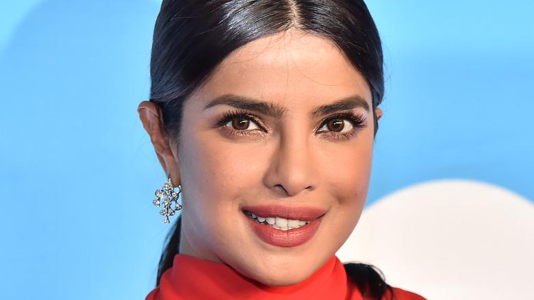 Priyanka Chopra with split hairstyle