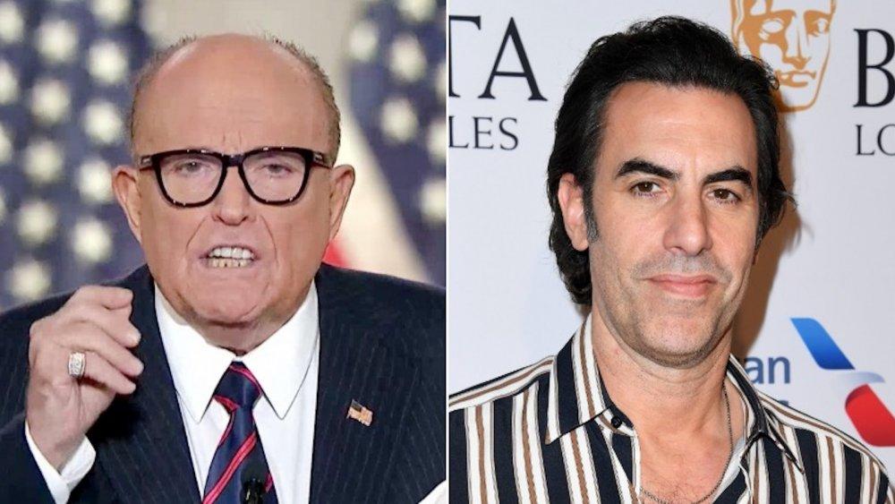 Rudy Giuliani and Sacha Baron Cohen