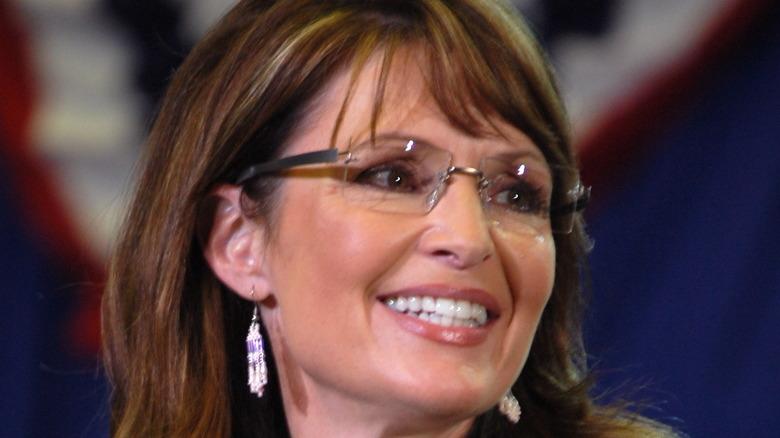 Sarah Palin American flag bunting