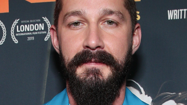 Shia LaBeouf in blue suit