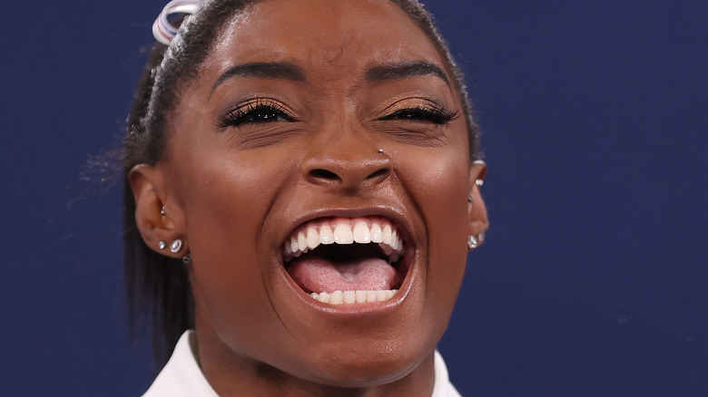 Simone Biles smiling
