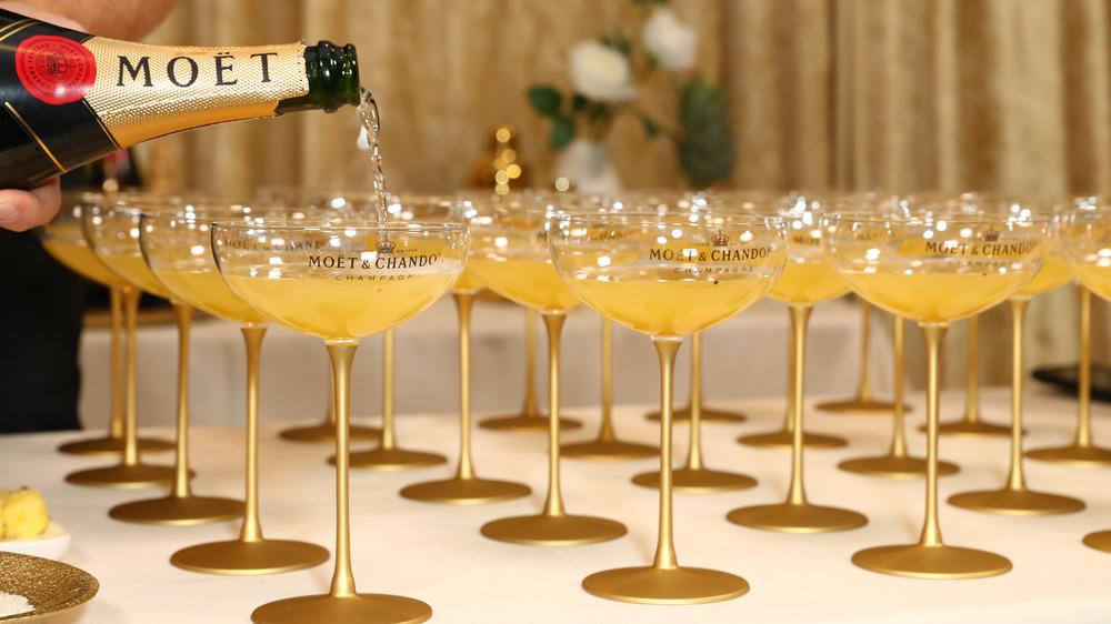 Champagne glasses at Golden Globes