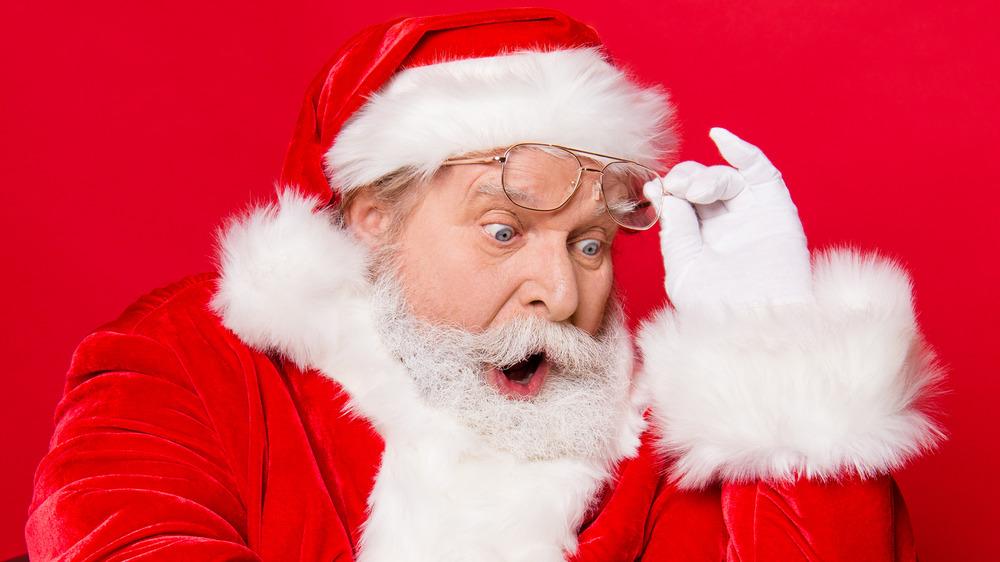 Santa Claus looking shocked