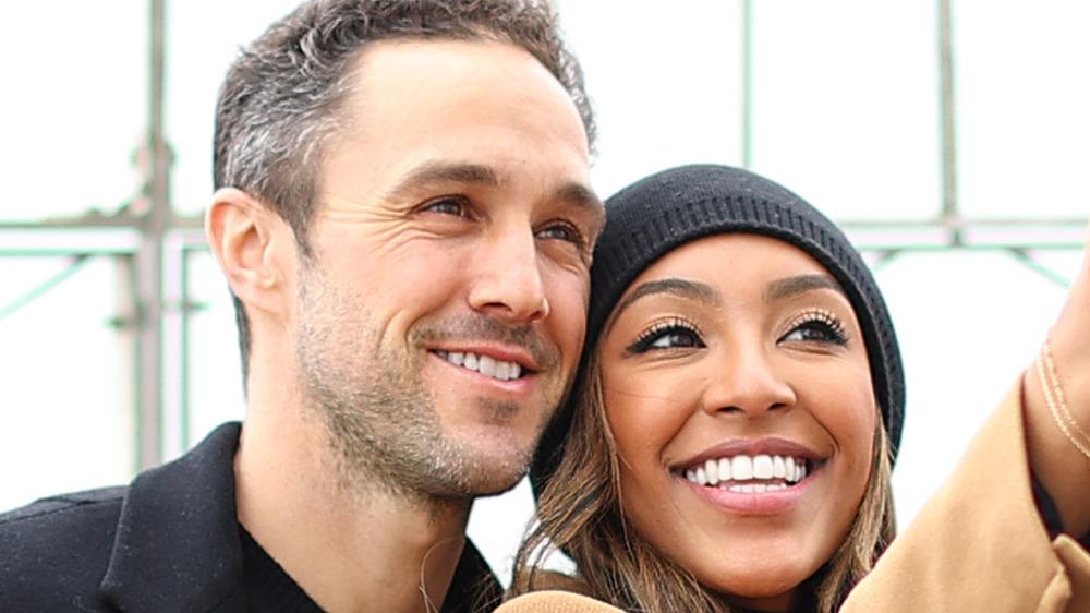 Tayshia Adams and Zac Clark take a selfie together