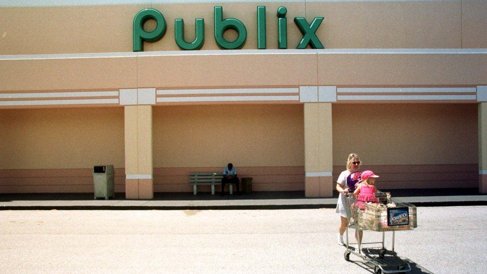 Woman shops at Publix