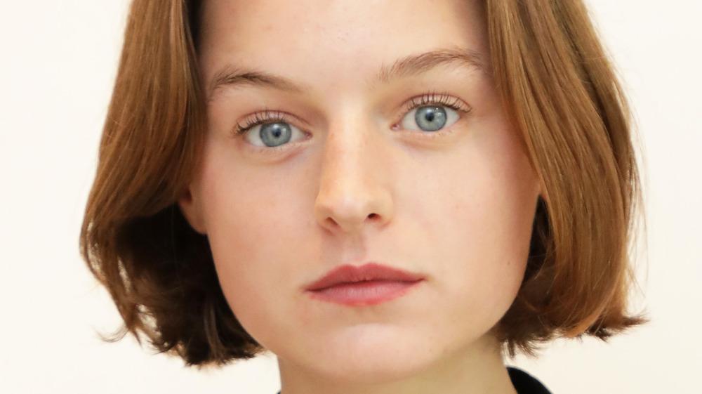 Emma Corrin big eyes