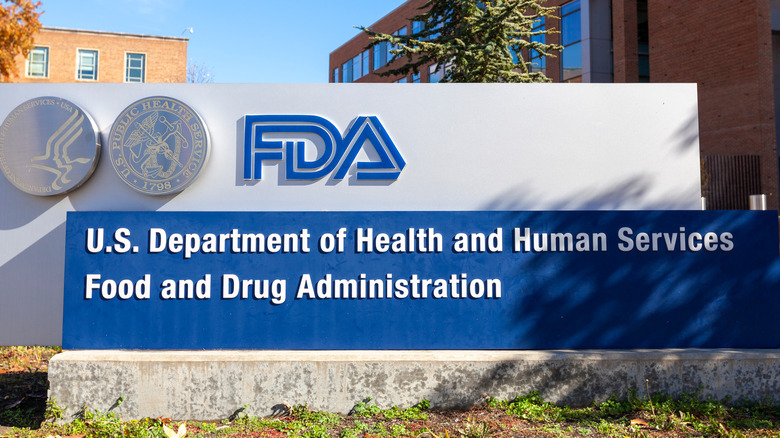 sign outside the FDA offices