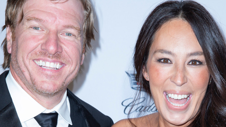 Chip and Joanna Gaines laughing