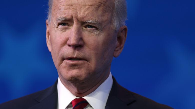 Joe Biden with a serious expression