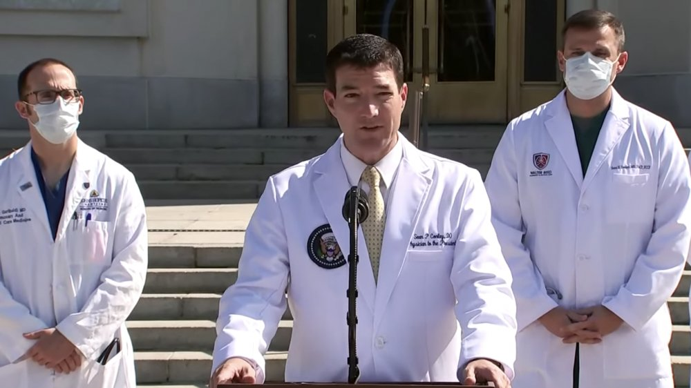 doctors at Trump's health update