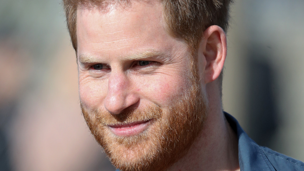 Prince Harry smiling