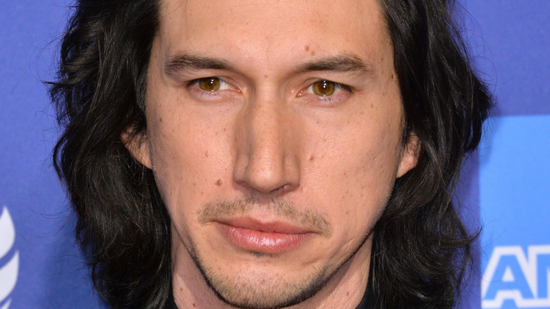 Adam Driver face close-up