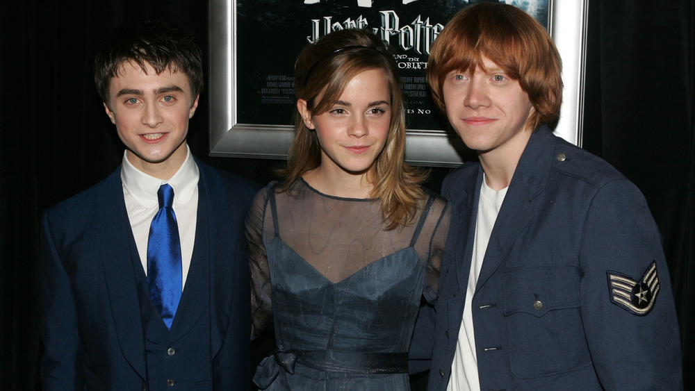 Daniel Radcliffe, Rupert Grint, and Emma Watson