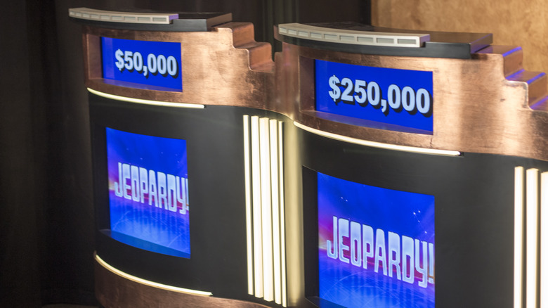Jeopardy! gameshow stands