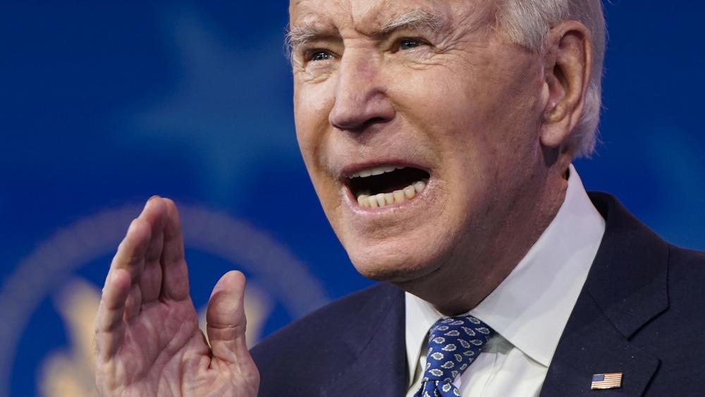 Joe Biden looking angry