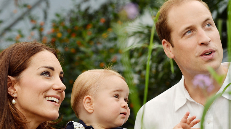 Kate Middleton, Prince George, and Prince William pose for a photo