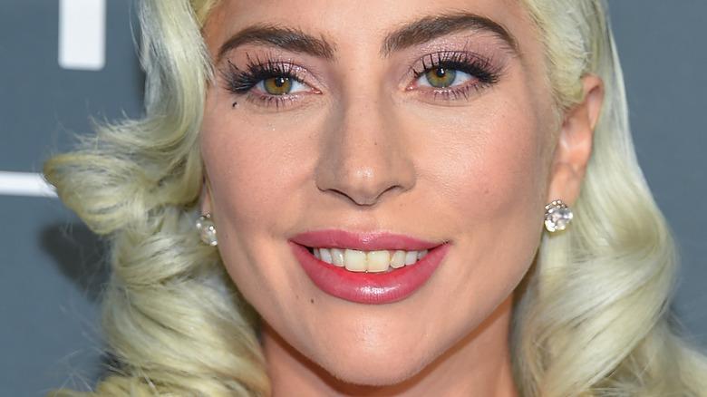 Lady Gaga with blonde hair